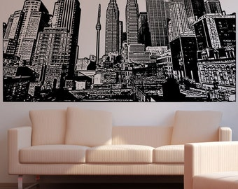 Vinyl Wall Decal Sticker Toronto Buildings 5228m