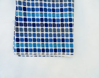 Vintage Cotton / 1950s Fabric / 50s Fabric / Cotton Fabric / Blue Atomic Print / Quilt Fabric / 1940s Fabric 40s Fabric