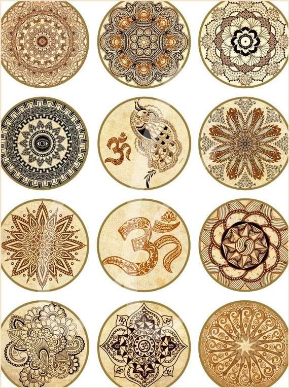 Mehndi Cake Toppers : Henna design craft circles yoga mehndi mandala digital