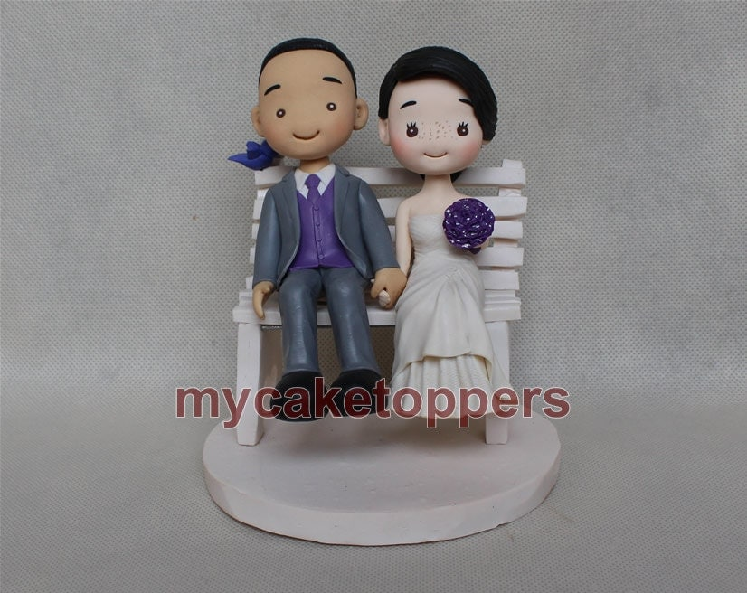 Lovely Wedding Cake Topper Funny Wedding Cake TopperCartoon