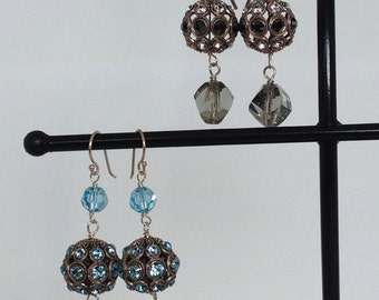 Swarovski filigree bead earrings