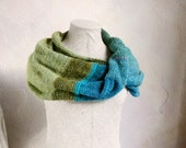 Infinity Wrap Scarf Cowl, Rainforest - light weight yet warm travels well and brightens any outfit - WrapturebyInese