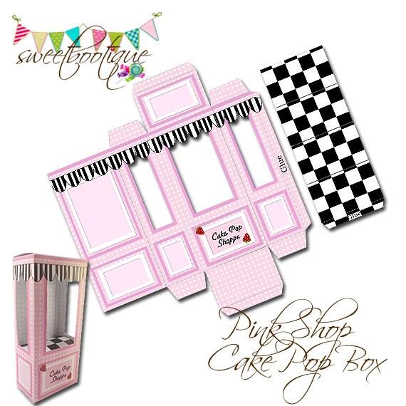 Cake Pop Box Small Gift Box Wedding Favour Box By