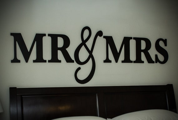 Mr Amp Mrs Wall Sign For Bedroom Decor Mr And Mrs By