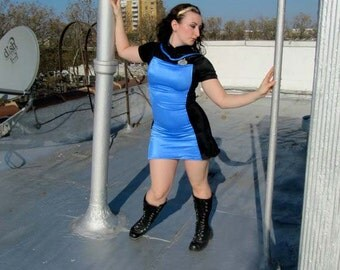 Star Trek TNG Blue Ladies dress uniform // Deanna Troi costume // Star Trek cosplay // The Next Generation //Star Trek medical staff uniform