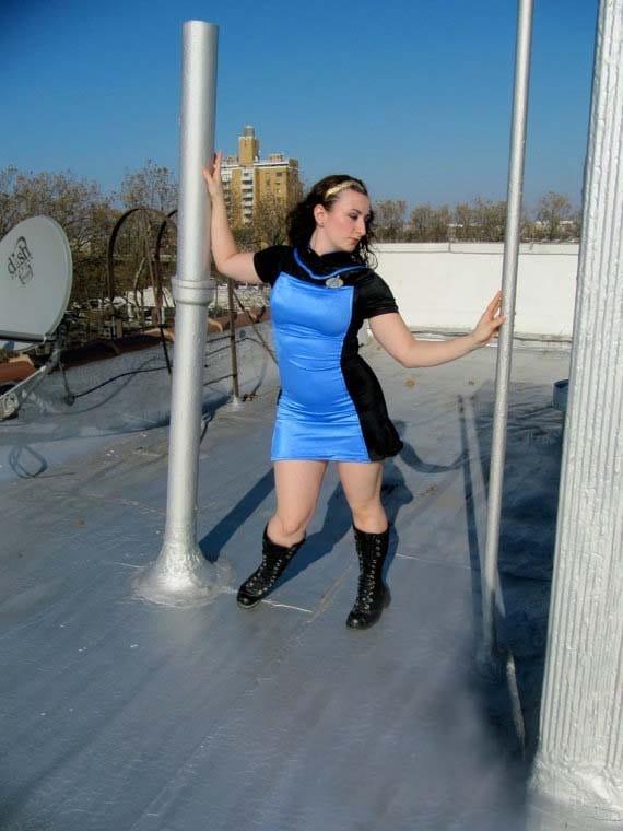 Items Similar To Star Trek Tng Blue Ladies Dress Uniform