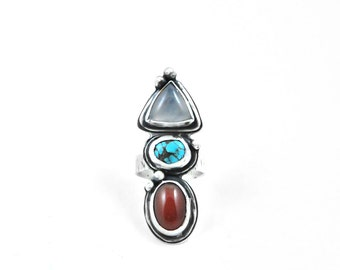 SALE // Elements Ring // sterling, agate + turquoise