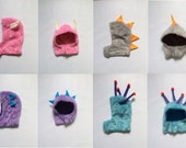 Kids Halloween Costume Hoods Design your own Monsters Inc. Mix and match hoods and suits HOODS one size fits all