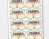 Baseball Birthday PRINTABLE Party Favor Tags (INSTANT DOWNLOAD) from Love The Day