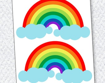 Rainbow Party PRINTABLE Rainbow Decals (INSTANT DOWNLOAD) from Love The Day