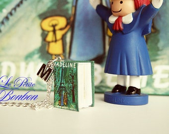 Madeline story book with initial necklace