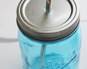 24 MASON JAR DRINKING Lid Regular Mouth Lids for Diy Drinking Jars To Go Glasses Silver Galvanized Pair with Our Jars/Straws! Lids Only