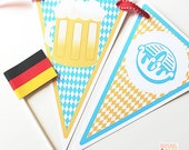 PRINTABLE #Oktoberfest Party #Banner - #DIY #Digital #File (instant download)