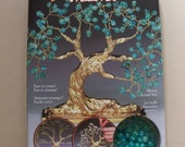 Teal Glass Beaded Bonsai Tree Kit - Tree of Enlightenment 29410