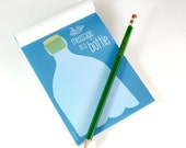 Notepad SALE: Message In A Bottle