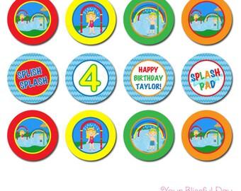 PRINTABLE Splash Pad Party Circles (Personalized) #588