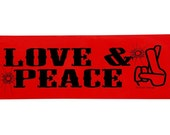 Trigun Anime Bumper Sticker (Love & Peace)
