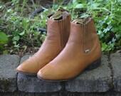 VIntage Brown Leather Chelsea Boots Mens 11 10.5 Wmns 12.5