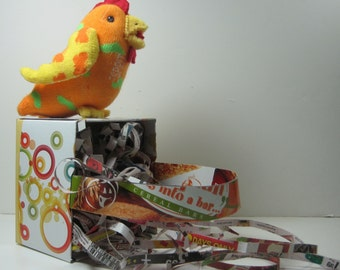 EASTER BASKETS ecofriendly, made of recycled cardboard boxes, in stock or made to order