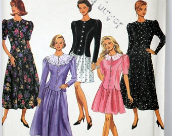 Size 12 14 16 Simplicity 8116 Skirt in 2 Lengths and Top Shirt BLouse 2 Piece Dress Women Misses Uncut Sew Sewing Pattern