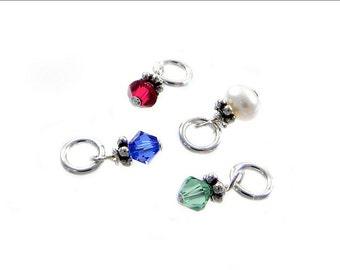 Add a Swarovski Crystal or Freshwater Pearl