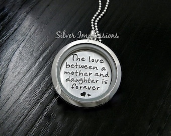 Mother Daughter Locket / The Love Between a Mother and Daughter is Forever / Floating Lockets / Memory Locket]Mo