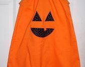 Pumpkin Dress, sleeveless Halloween Dress, a line dress