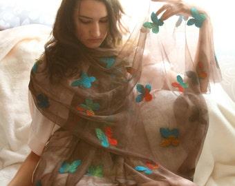 PDF pattern felting tutorial nuno felted scarf felted shawl felted wrap pattern for felt easy felt felting DIY tutorial