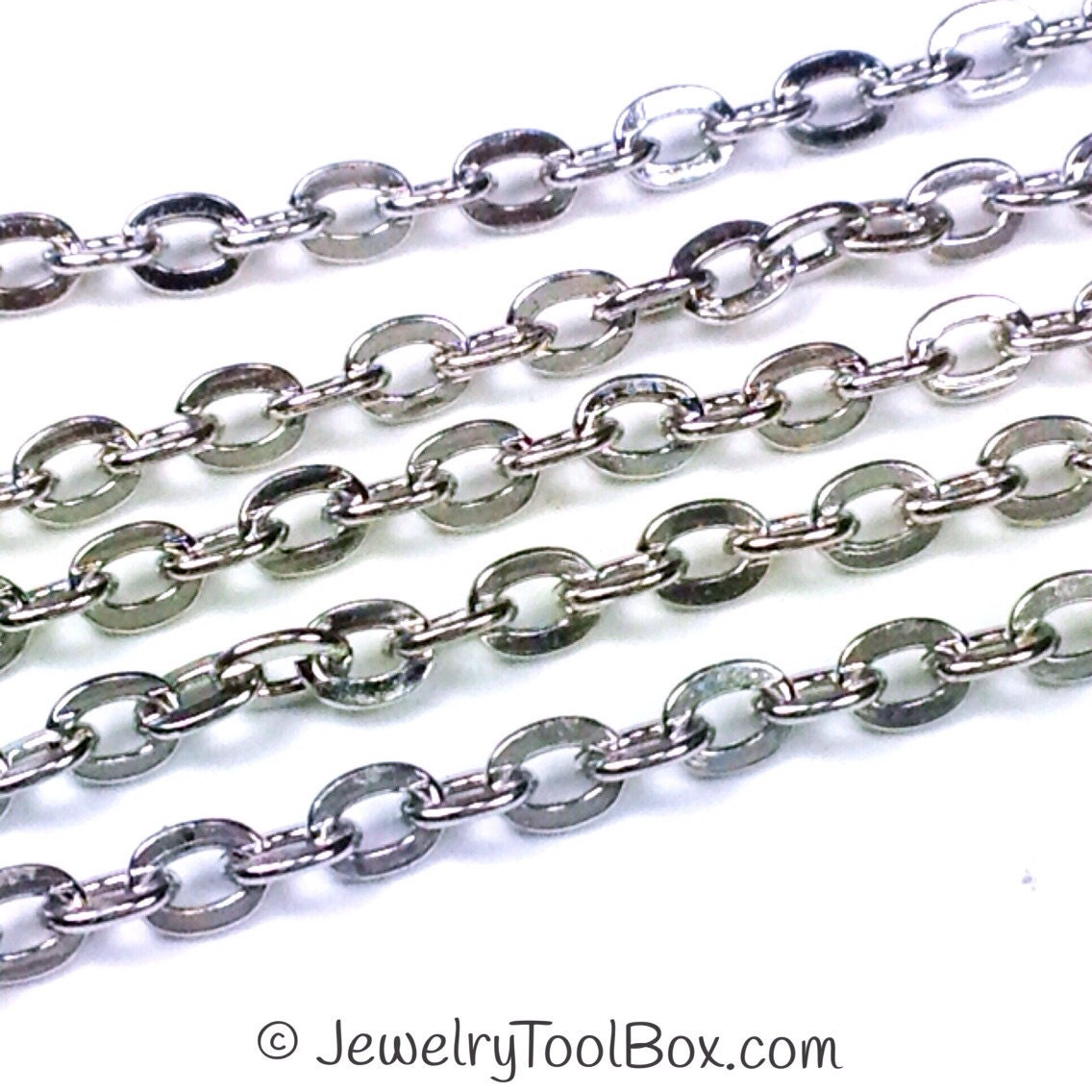 Stainless Steel Jewelry Chain Hypoallergenic 304 Stainless
