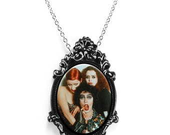 """Rocky Horror Picture Show Necklace with Beautiful Antique Frame on a 18"""" Chain"""