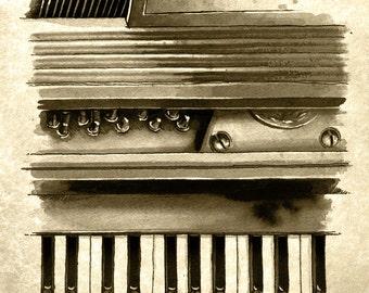 Piano - weathered print
