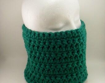 Classic Chunky Cowl Headband - Emerald Green Grand Rapids Deep Forest