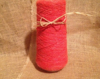 Vintage Yarn Cone in Coral Wool and Silk Blend