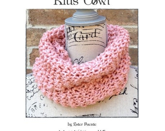 Kids Knit Cowl Pattern Beginner Knitting Pattern Circle InfinityScarf Knitted Quick  DIY Christmas Gift