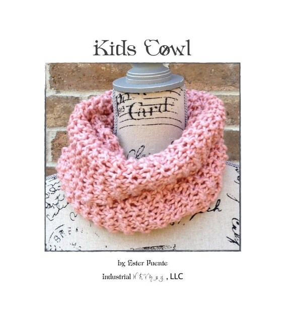 Cowl Knitting Pattern For Beginners : Kids knit cowl pattern beginner knitting circle