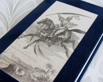 SALE Unique Moleskine style notebook- Antique Arabian nights illustration