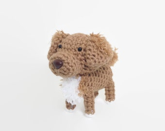 Nova Scotia Duck Tolling Retriever Toller Stuffed Dog Amigurumi Dog Crochet Puppy Plush Doll / Made to Order