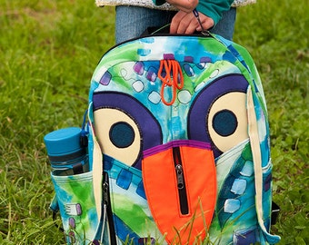 Birdy Kids Backpack Pattern Back To School Bird Backpack Cute Backpack by Tutorial Girl