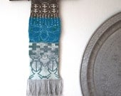 Hand knitted tapestry wall hanging ASKIVAL