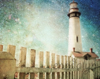 lighthouse decor - california wall art - pigeon point light house print