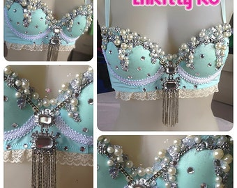 Fancy Princess Jasmine - Sparkly bra with pearls