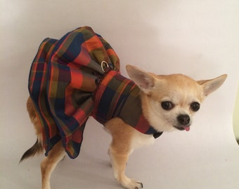 Clearance Sale, Ready to Mail, Holiday dog dress, taffeta dog dress, fancy dog dress, formal dog dress, winter dog dress