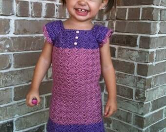 Crochet Pattern, Emerald City Toddler Dress