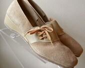 Ladies Penaljo Brand Vintage Slip On Suede Shoes Size 10.5 Narrow