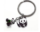 Key Chain with Pandas Charm, Qty1
