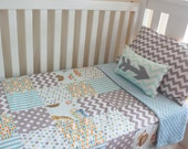 SALE OOAK Retro Escapees Deluxe Cot Blanket - Crib Bedding