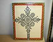 Original Ethiopian Cross Wood Wall Plaque