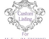 Custom Listing For Melissa (Meli253905)