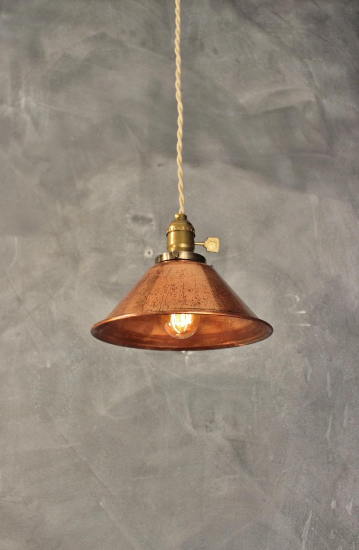 Weathered copper pendant lamp vintage industrial hanging Vintage pendant lighting