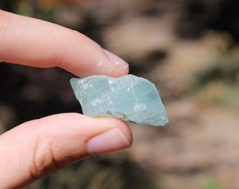 PRICE REDUCED Beautiful Raw Aquamarine - March Birthstone - Blue Gem Stone - Raw stone